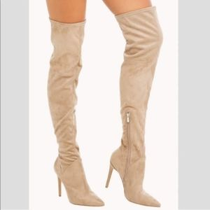 Kendall&Kylie suede soft over the knee boots 9.5